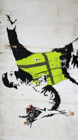 coque Bansky Yellow Vests