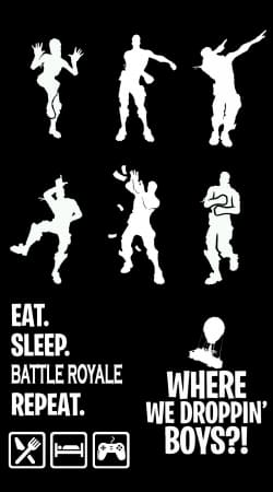 coque Battle Royal FN Eat Sleap Repeat Dance