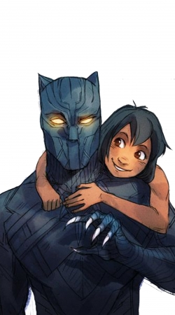 coque Black Panther x Mowgli