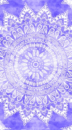 coque Bohemian Flower Mandala in purple