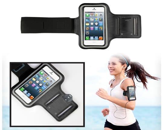 brassard sport pour le jogging gym sport noir pas cher. Black Bedroom Furniture Sets. Home Design Ideas