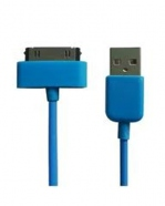 Cable USB Iphone Bleu