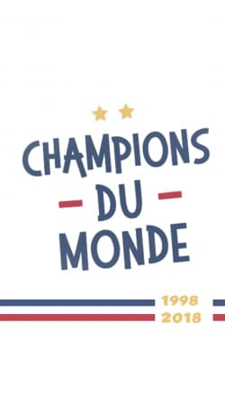 coque Champion du monde 2018 Supporter France