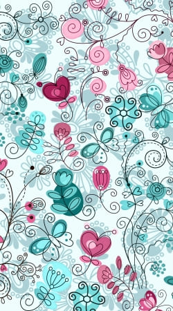 coque doodle flowers and butterflies
