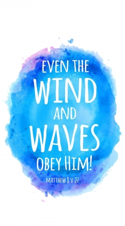 coque Chrétienne - Even the wind and waves Obey him Matthew 8v27