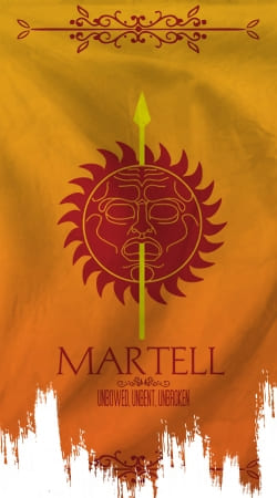 coque Flag House Martell