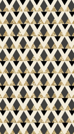 coque Glitter Triangles in Gold Black And Nude