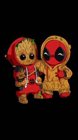 Coque Groot x Deadpool