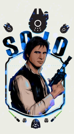 coque Han Solo from Star Wars