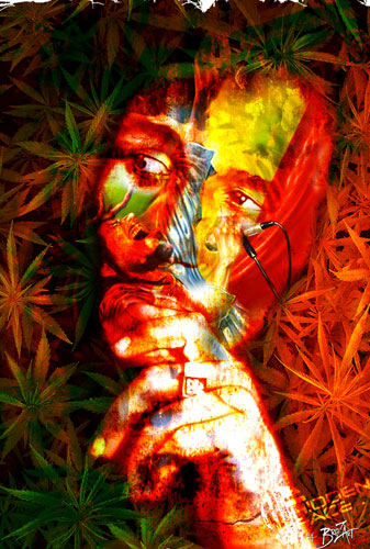 coque Bob Marley Painting Art