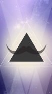 coque Hipster Triangle Moustache