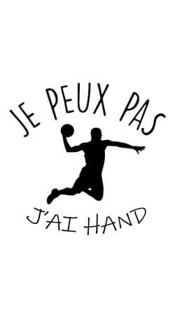 Coque Je peux pas j'ai handball