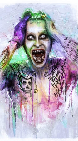 coque joker water color art