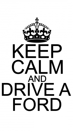 coque Keep Calm And Drive a Ford