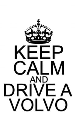 coque Keep Calm And Drive a Volvo