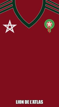 e45d3a85ca0d6 Coque Maillot du Maroc Football Home Flocage avec nom et numéro pour ...