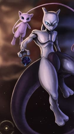 coque Mew And Mewtwo Fanart