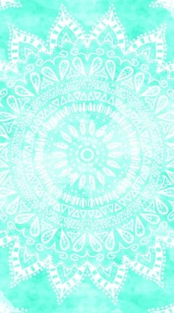 coque Mint Bohemian Flower Mandala