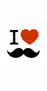 coque I Love Moustache