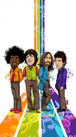 coque Music Legends: Lennon, Jagger, Dylan & Hendrix