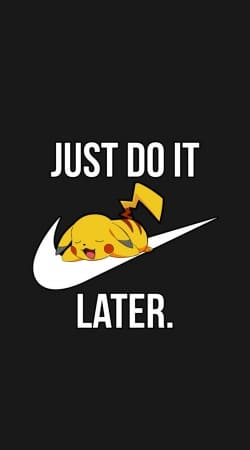 coque Nike Parody Just Do it Later X Pikachu