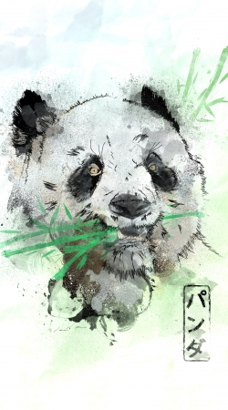 coque Panda Watercolor