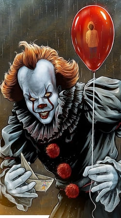 coque Pennywise Ca Clown Red Ballon