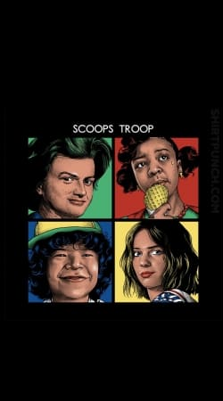 coque Scoops Troop Stranger Things