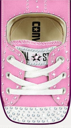 coque Chaussure All Star Rose Diamant