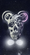 coque Skull Mickey Mechanics in space