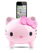 Station Musicale Stereo pour iPod /iPhone 3gs/4 - Forme Hello Kitty - Rose/Fushia