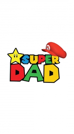 coque Super Dad Mario humour