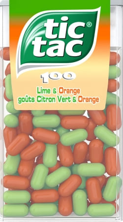 coque tic Tac Orange Citron