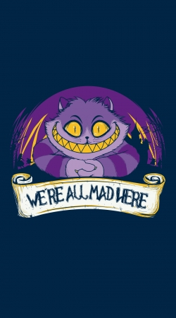 coque We're all mad here