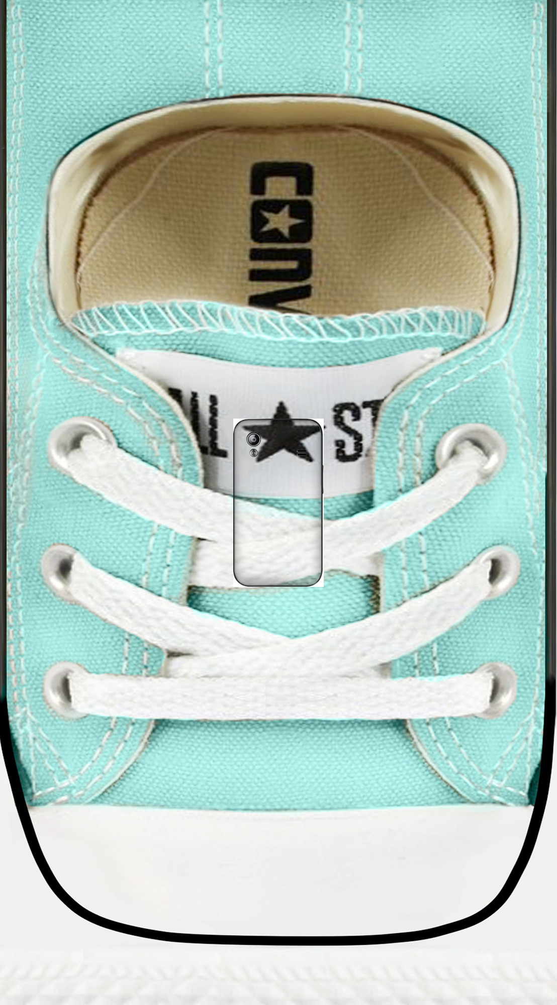 housse All Star Basket shoes Tiffany a clapet pour Samsung Galaxy Ace S5830