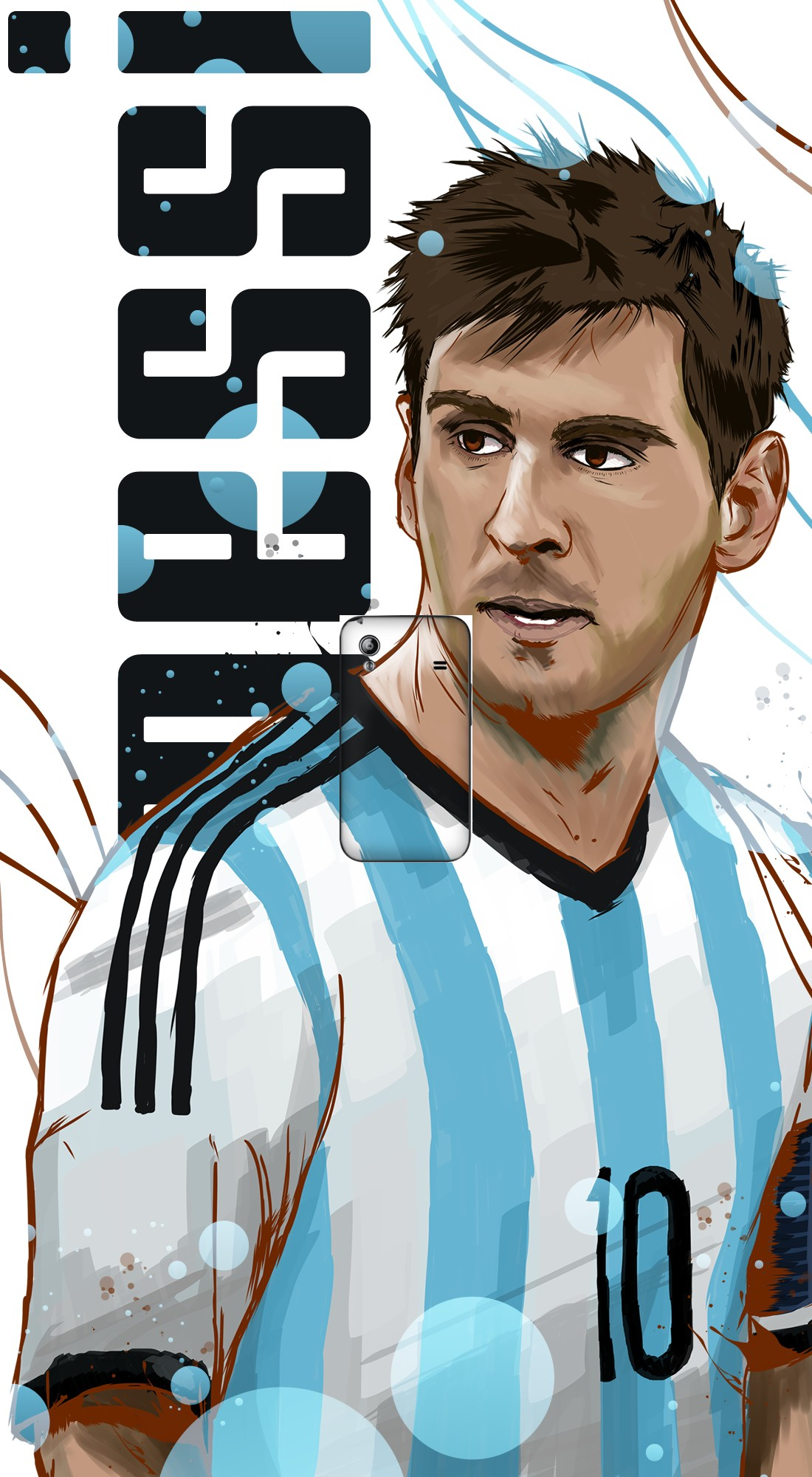 housse Football Legends: Lionel Messi - Argentina a clapet pour Samsung Galaxy Ace S5830