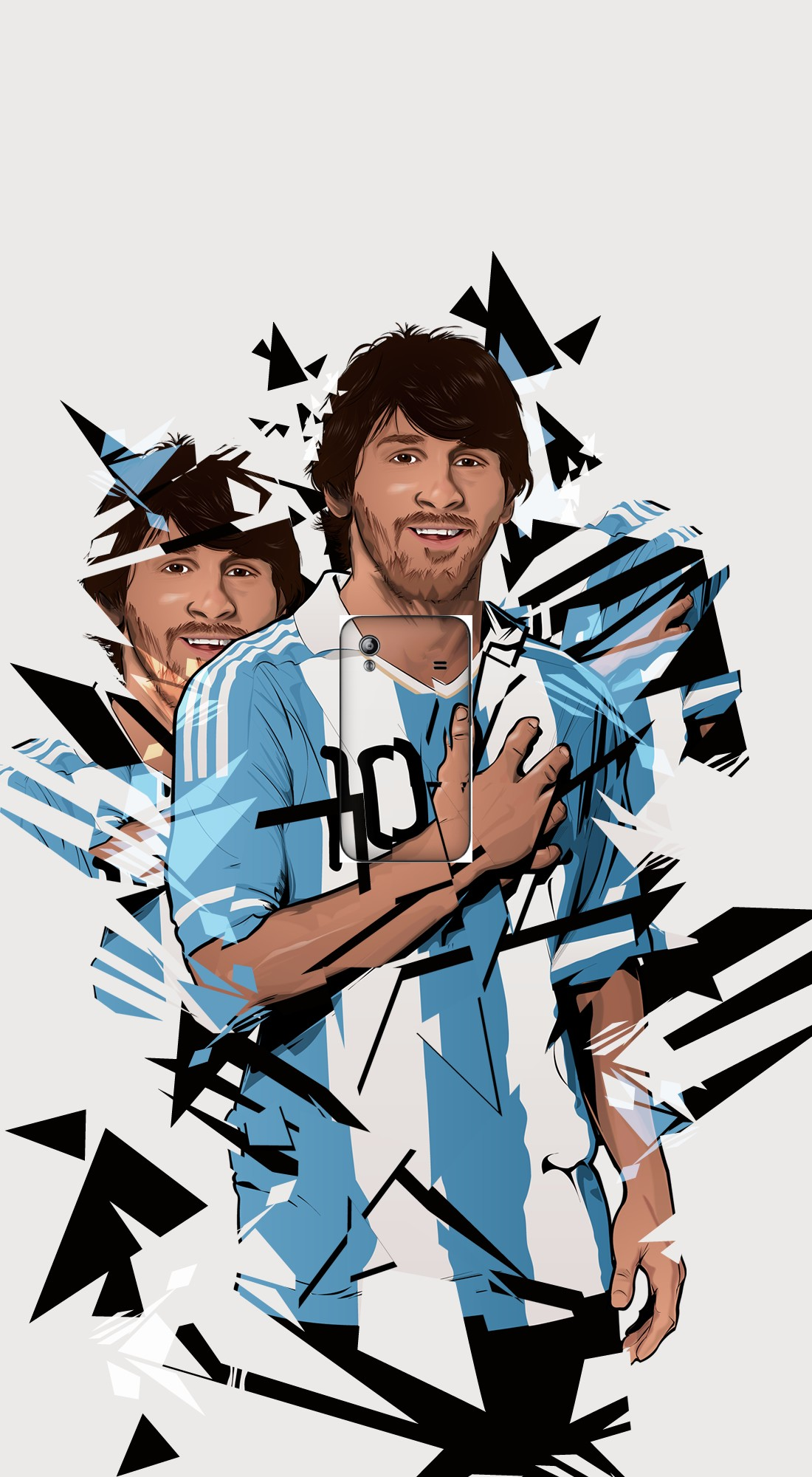 housse Football Legends: Lionel Messi Argentina a clapet pour Samsung Galaxy Ace S5830