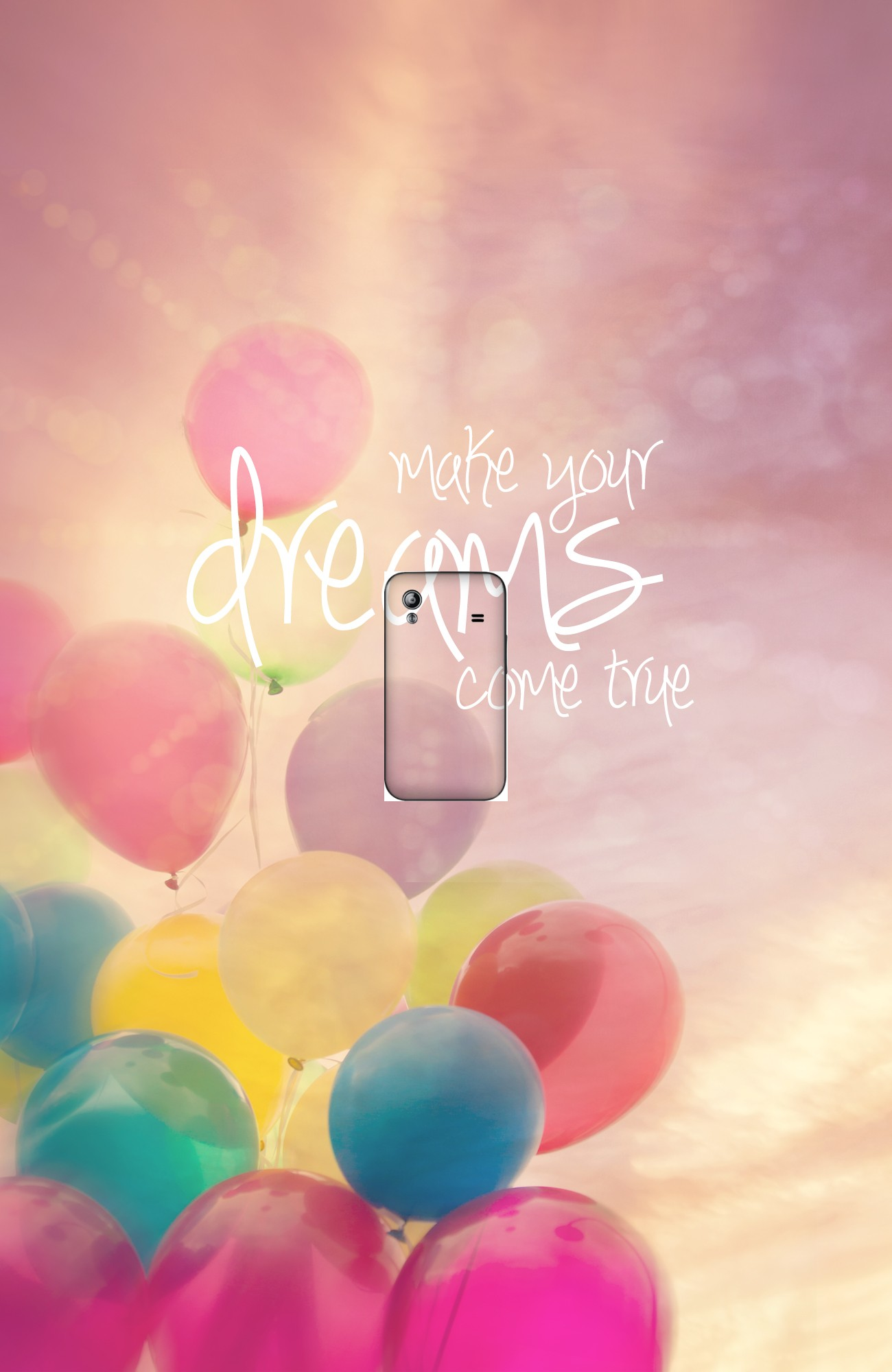 housse make your dreams come true a clapet pour Samsung Galaxy Ace S5830