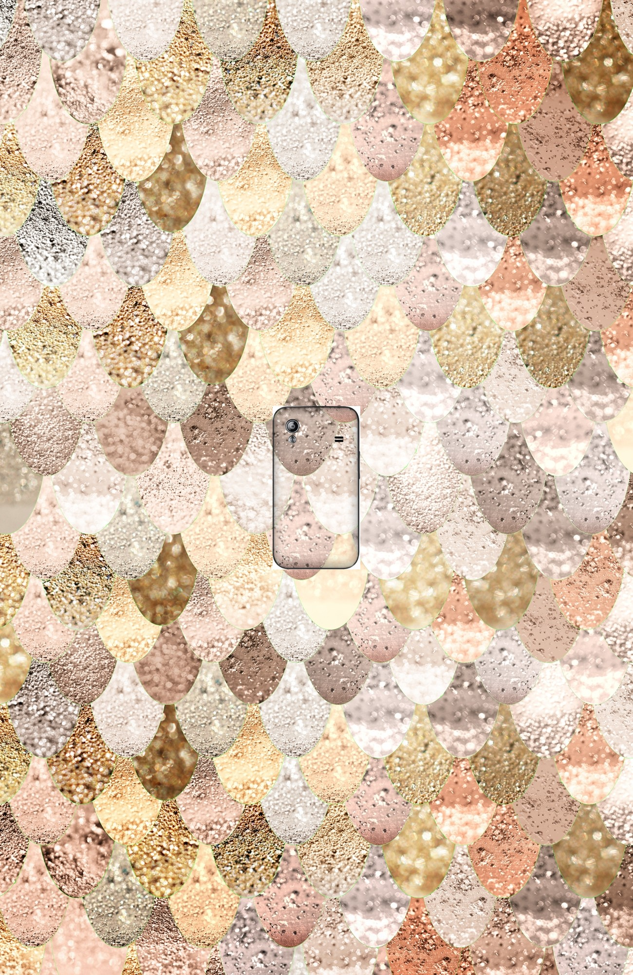 housse MERMAID GOLD a clapet pour Samsung Galaxy Ace S5830