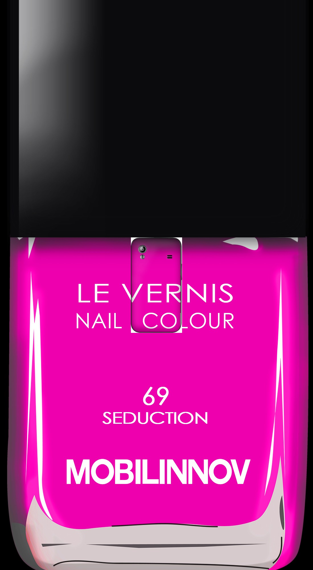 housse Flacon Vernis 69 Seduction a clapet pour Samsung Galaxy Ace S5830