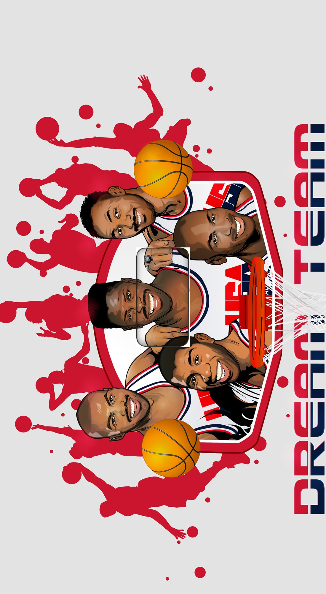 housse NBA Legends: Dream Team 1992 a clapet pour Samsung Galaxy Ace S5830