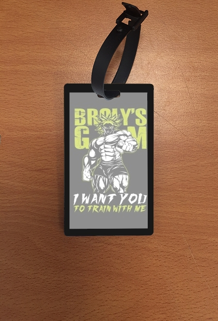 étiquette bagage Broly Training Gym