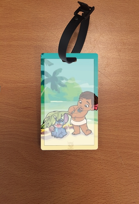 étiquette bagage Disney Hangover Moana and Stich