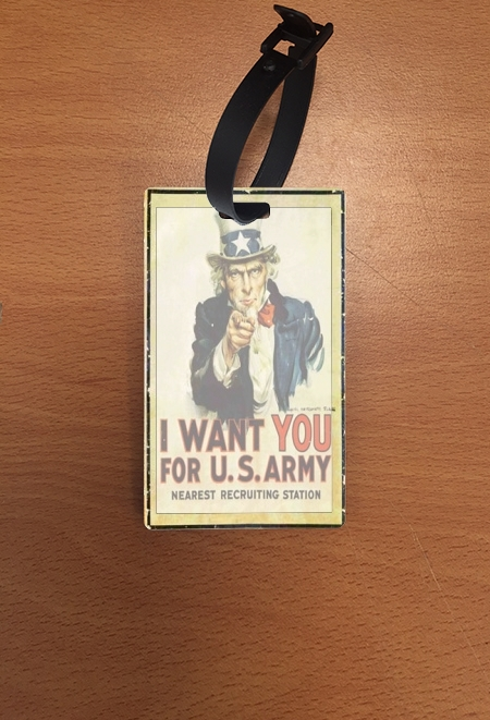 étiquette bagage I Want You For US Army