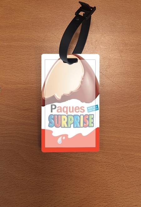 étiquette bagage Joyeuses Paques Inspired by Kinder Surprise