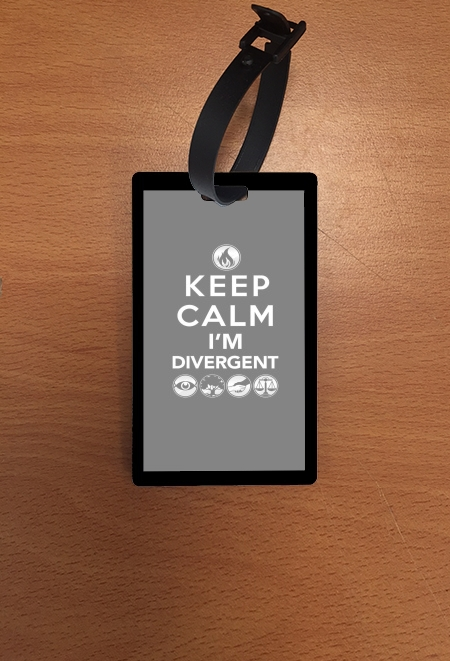 étiquette bagage Keep Calm Divergent Faction