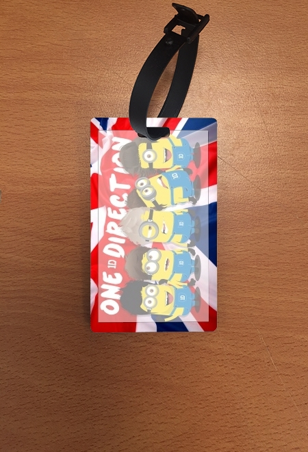 étiquette bagage Minions mashup One Direction 1D