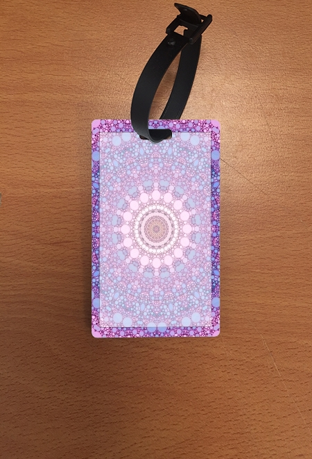 étiquette bagage pink and blue kaleidoscope
