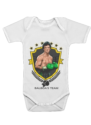 body bébé Boxing Balboa Team