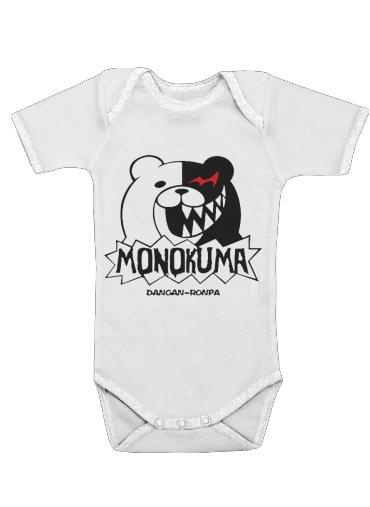 Body bébé blanc manche courte Danganronpa bear